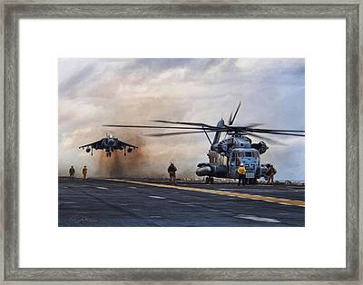 Vtol Parking Only Framed Print by Peter Chilelli