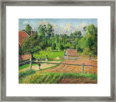Vue De La Fenetre De Lartiste Framed Print by Celestial Images