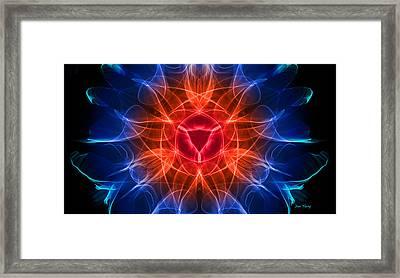 Vulva Heat Framed Print by Dan Terry