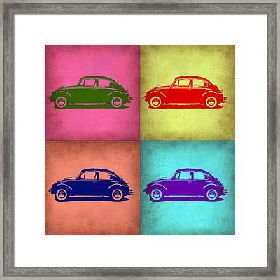 Vw Beetle Pop Art 1 Framed Print by Naxart Studio