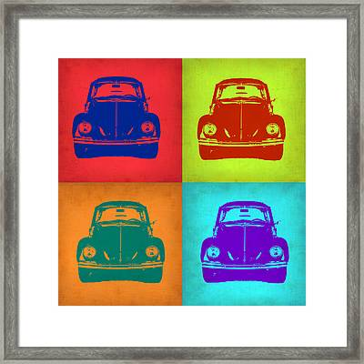 Vw Beetle Pop Art 5 Framed Print by Naxart Studio