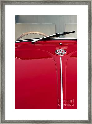 Vw Beetle Framed Print by Tim Gainey