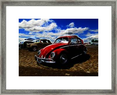 Vw Bug And Vw Thing Framed Print by Steve McKinzie