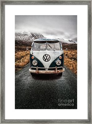 Vw Camper Glen Etive Framed Print by John Farnan