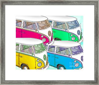 Vw Collage Framed Print by Cheryl Young