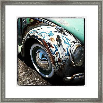 Vw Fender Art Framed Print by Gwyn Newcombe