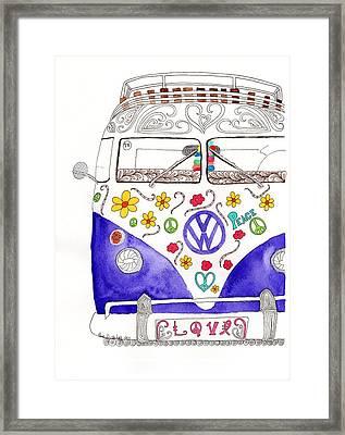 Vw Love Framed Print by Paula Dickerhoff