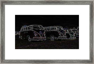 Vw Microbus Glow Framed Print by Steve McKinzie