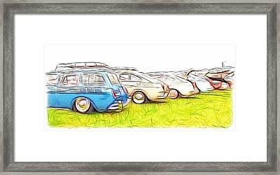 Vw Squareback Art Framed Print by Steve McKinzie