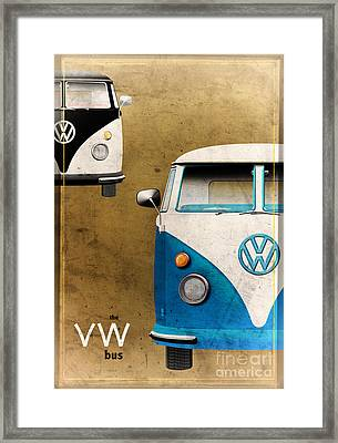 Vw The Bus Framed Print by Tim Gainey