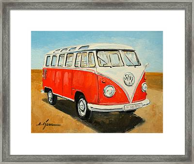 Vw Transporter T1 Framed Print by Luke Karcz