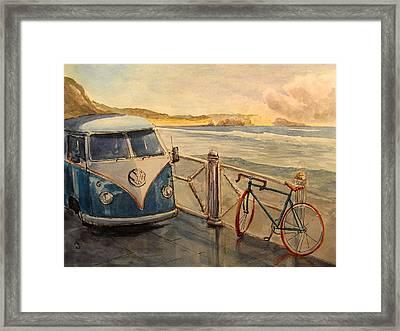 Vw Westfalia Surfer Framed Print by Juan  Bosco
