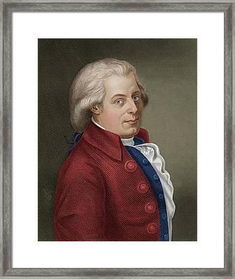 W A Mozart Framed Print by Maria Platt-evans