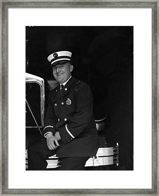 W. Dill Century Of Progress Fire Department Framed Print by Retro images archive