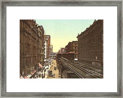 Wabash Avenue Chicago 1900 Framed Print by Padre Art