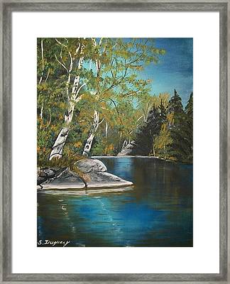 Wabigoon Lake Framed Print by Sharon Duguay