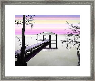 Waccamaw Lake  Framed Print by Joseph Tese
