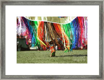 Wacipi Fancy Dancer Framed Print by Heidi Hermes