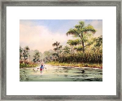Wacissa River  Framed Print by Bill Holkham