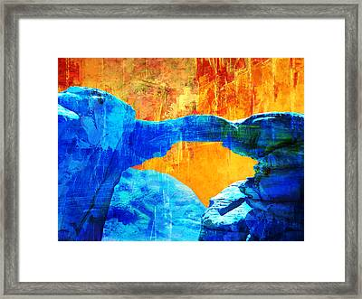Wadi Rum Natural Arch 2 Framed Print by Catf