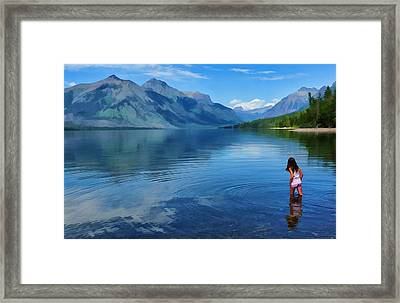 Wading In To A Dream Framed Print by Jeff R Clow