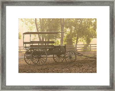 Wagon - Abe's Buggie Framed Print by Mike Savad