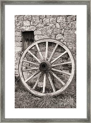 Wagon Wheel Framed Print by Olivier Le Queinec