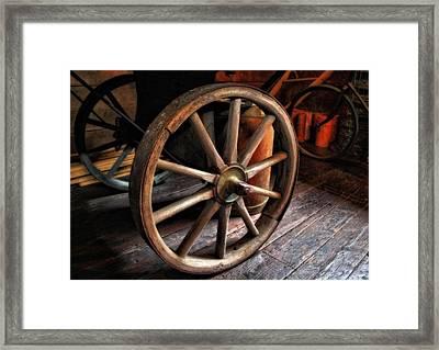 Wagon Wheels Framed Print by Dan Sproul