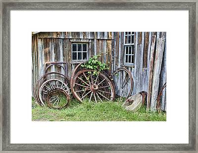 Wagon Wheels In Color Framed Print by Crystal Nederman