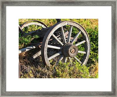 Wagon Wheels Framed Print by Steven Parker