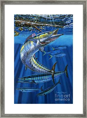 Ocean City Framed Print featuring the painting Wahoo Rip Off0047 by Carey Chen