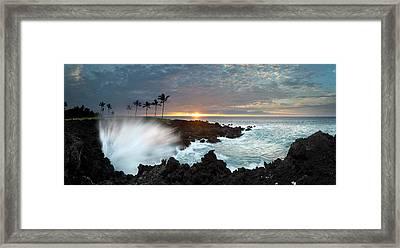 Waikaloa Mana Framed Print by Sean Davey