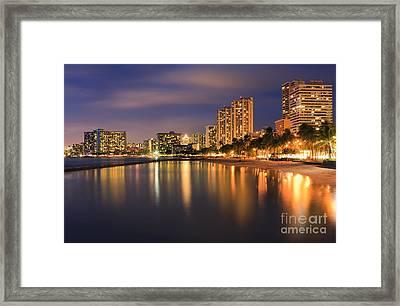 Waikiki Beach - Honolulu Framed Print by Henk Meijer Photography