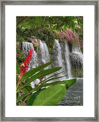 Wailea Grand Falls Framed Print by Sean  James G