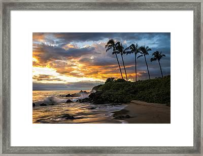 Wailea Sunset Framed Print by Hawaii  Fine Art Photography