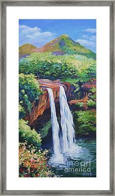 Wailua Falls Framed Print by John Clark