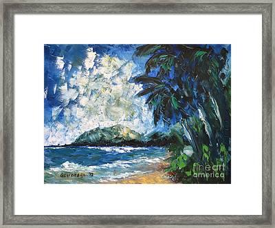 Waimanalo Framed Print by Larry Geyrozaga
