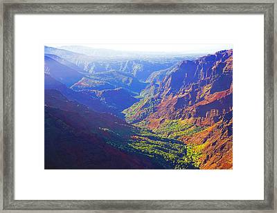 Waimea Canyon Morning Light Framed Print by Kevin Smith