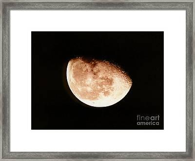 Waining Gibbous Moon Framed Print by John Chumack