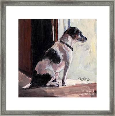Wait And See Framed Print by Molly Poole
