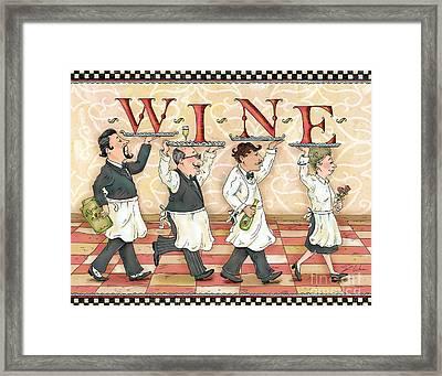 Waiters Wine Framed Print by Shari Warren