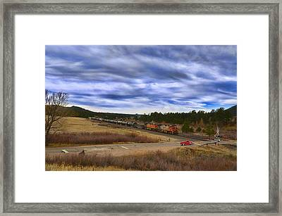 Waiting At The Gates Version 2 Framed Print by Ken Smith