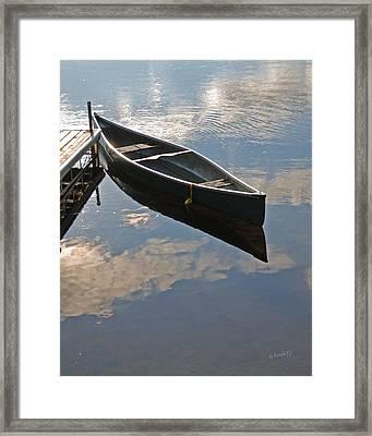 Waiting Canoe Framed Print by Renee Forth-Fukumoto