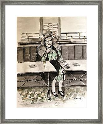 Waiting Framed Print by Caroline Street