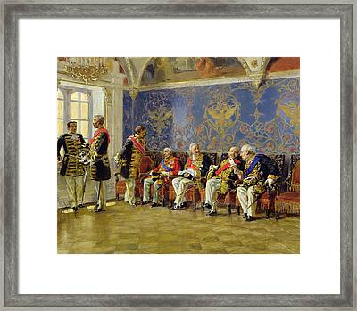 Waiting For An Audience Framed Print by Vladimir Egorovic Makovsky