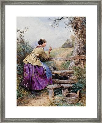 Waiting For Father Framed Print by Forest Myles Birket