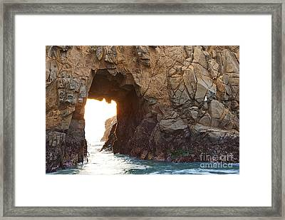 Waiting For Godot - Arch Rock In Pfeiffer Beach In Big Sur. Framed Print by Jamie Pham
