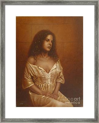 Waiting For Her Lover Framed Print by John Silver