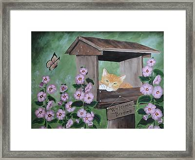 Waiting For Lunch Framed Print by Kenny Francis