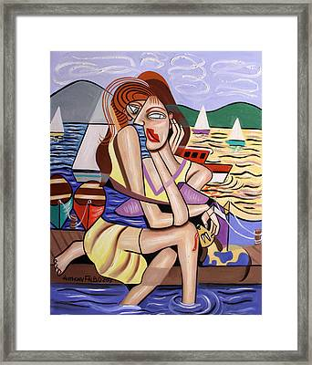 Waiting For My Ship To Come In Framed Print by Anthony Falbo